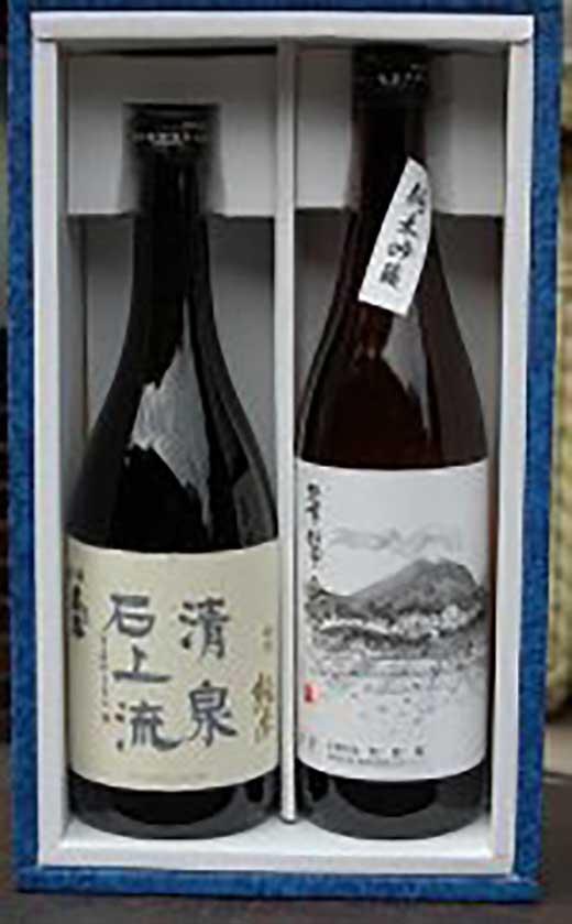 【ギフト用】全国でも珍しい『はねぎ』で搾ったこだわりの日本酒セット特純・純吟720