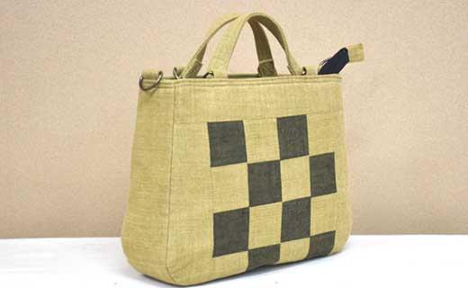 自然の布 はまさき工房「土布バッグ(ショルダー付)」Y-2981
