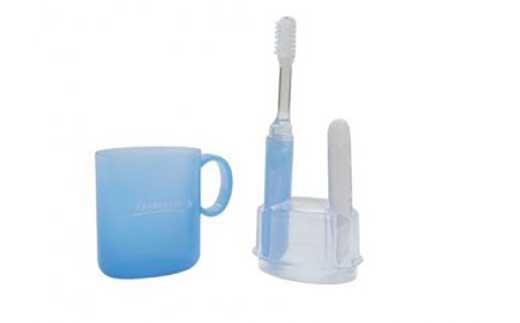 携帯歯磨きセット「イプセコロールデンタルキット」ブルー