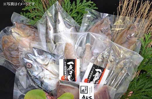 【お手頃サイズ】能登産地元漁港浜揚げ!!無添加新鮮!「能登海洋深層水一夜干しセット」
