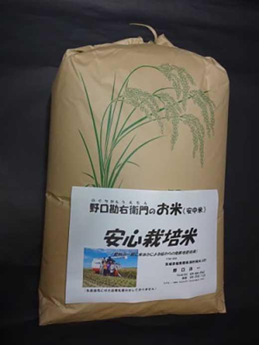 野口勘右衛門のお米「安心栽培米(コシヒカリ)」玄米10㎏