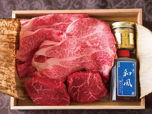◆常陸牛肩ロースすきやき&常陸牛ももステーキセット