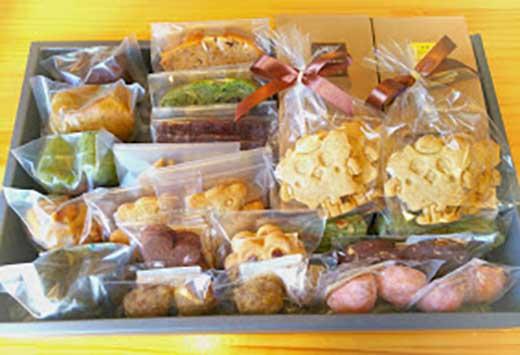 T7006-C手作り精進焼焼菓子詰合せ【御神楽・緑】マクロビ製法【20000pt】