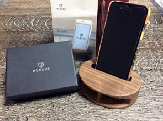 iPhone用木製無電源スピーカー【MUKUNE】Padauk