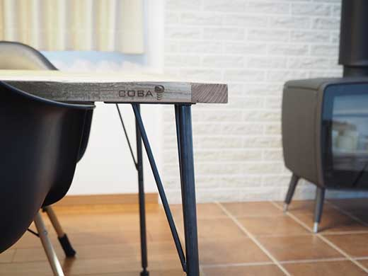 COBAダイニングテ-ブルW1500【カフェのような雰囲気を自宅で】