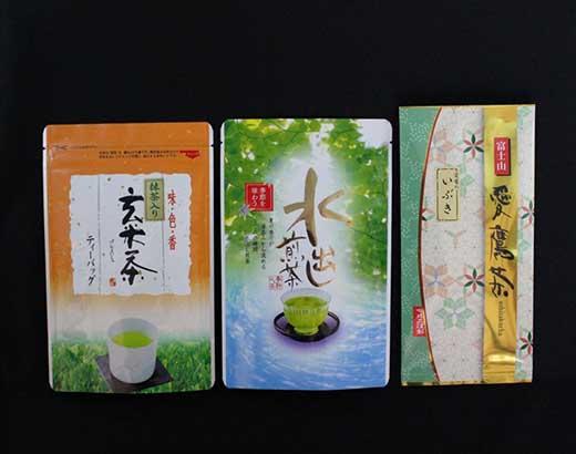 愛鷹茶 深蒸し煎茶いぶき・水出し煎茶TB・抹茶入玄米茶TB