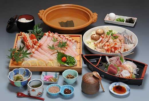 【食事券】高足ガニしゃぶしゃぶコース(お食事処かにや)