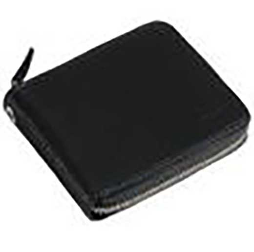 (ブルーステッチ)革製ラウンドファスナー折財布:1GJYV032000929