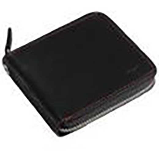 (赤ステッチ)革製ラウンドファスナー折財布:1GJYV032000962