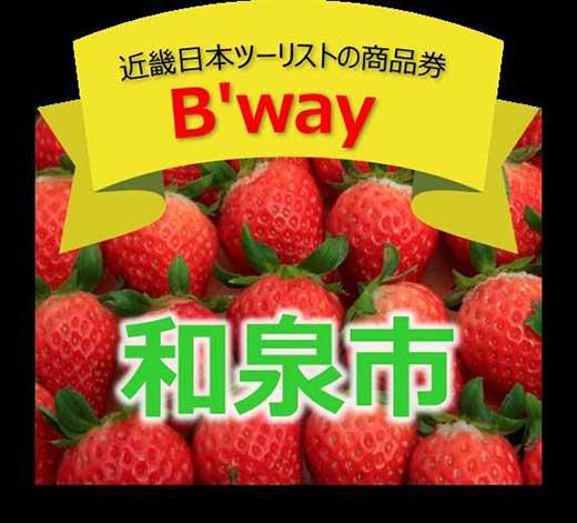 【Eセット】和泉市への旅行、ショッピング、お食事が楽しめる。B'wayギフト券&いずみの国納涼花火大会観覧招待席券