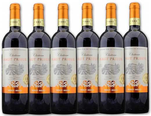 【ポイント交換専用】フランス産大谷地下蔵熟成ワインボルドー赤Chオープリウール6本セット
