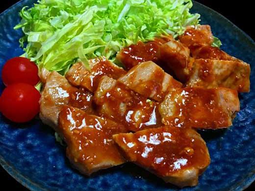 (まるごと糸島)糸島華豚柔らかロース肉ねぎ味噌焼き1、2kg入り