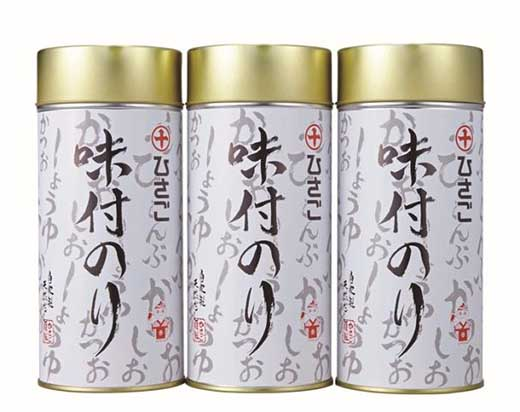 秘伝の関西風あまから味付け海苔丸缶3本セット