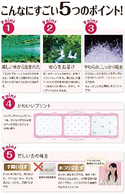 【4ケースセット】3倍長持ちトイレットペーパーサンハニー(花柄グリーン、水玉ブルー柄、水玉ピンク柄、無地)×各1ケース