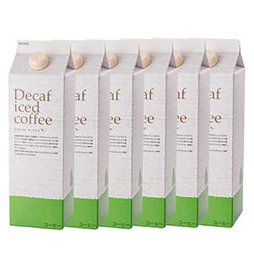 カフェインレスアイスコーヒー デカフェハウスブレンド1,000ml[無糖]×6本