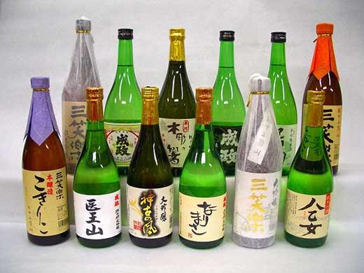 南砺市地元酒蔵3社の日本酒厳選12本セット