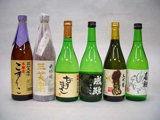 南砺市地元酒蔵3社の日本酒厳選6本セット