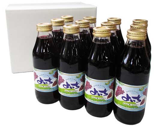 風味豊かな余市産ぶどうジュース12本セット