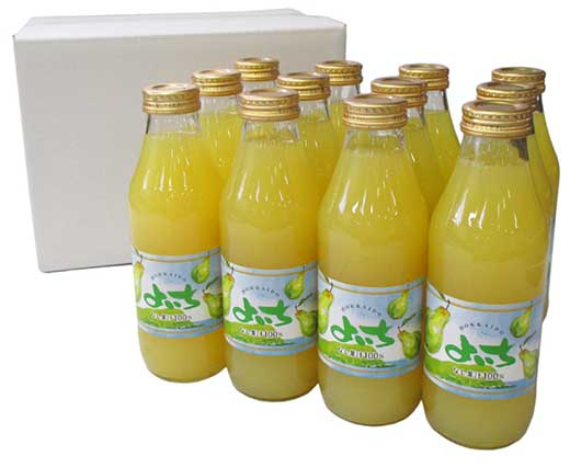 余市特産の千両梨をつかった果汁100%のなしジュース