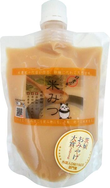 有機特栽米糀の甘味シロップ!【こめつぶぱんだの米みつ】