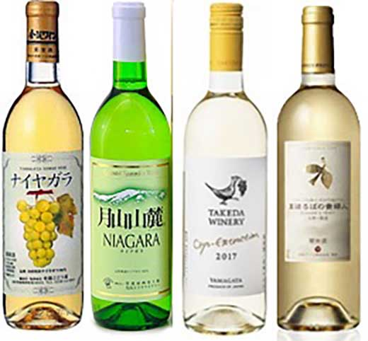 C095山形白甘口ワイン飲み比べ4本セット