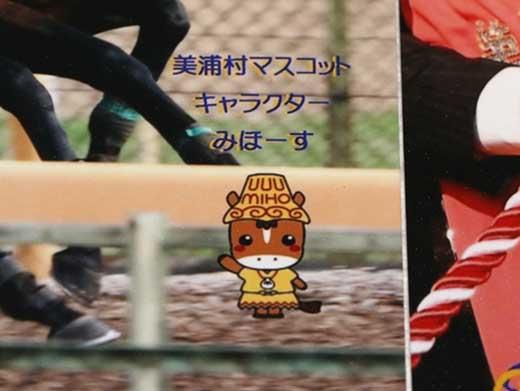 美浦村限定GⅠ馬ポストカードレイデオロ(ゆるキャラみほーす入り)