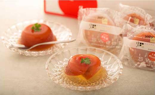 宮城県産こだわりトマトゼリー5個入り(夢風船フルーツトマトとデリシャストマト)