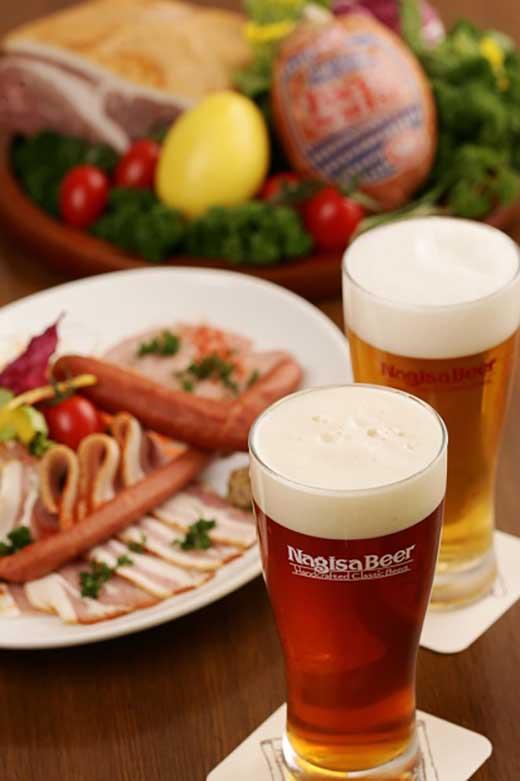 ナギサビール(330ml10本)とドイツ職人手作りハムセット