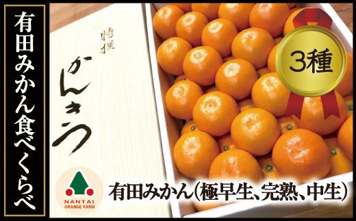 限定数50有田みかん・食べくらべ3種(各約3kg)【南泰園】