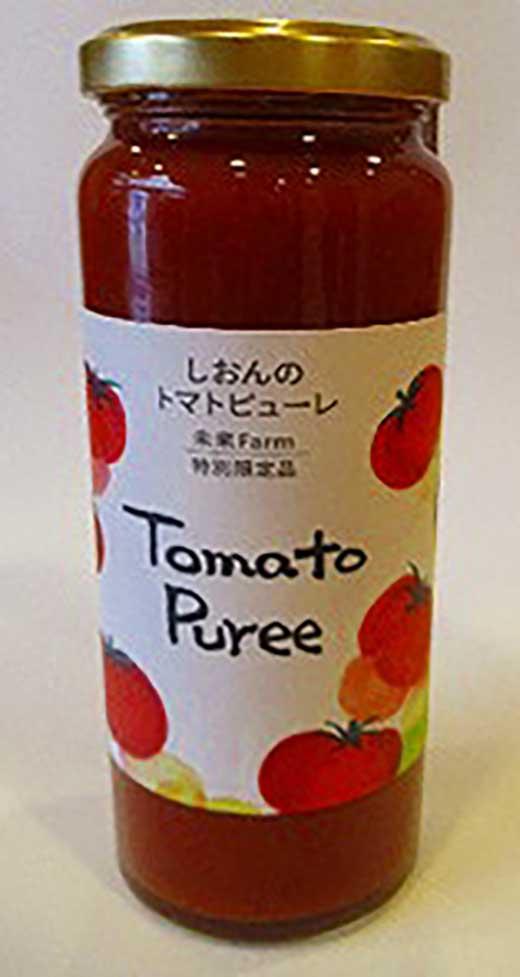 当社農園で厳選した完熟トマト100%のトマトピューレ