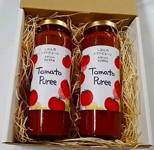 当社農園で厳選した完熟トマト100%のトマトピューレ(お得な2本セット)