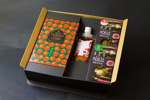 阿蘇野菜で美しく!ピクルスとこだわりリコピンカレー&ドレッシングセット