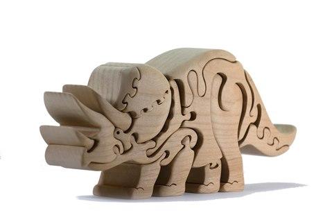 木工パズル トリケラトプス