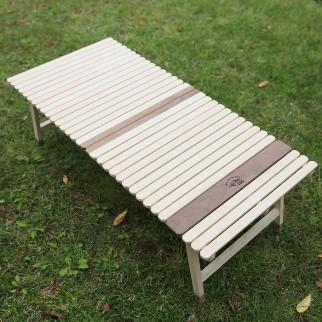 土佐ひのきの折りたたみキャンプテーブルKUROSON370-F