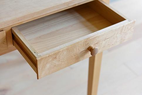 Desk2Drawers+GraceChair(ナチュラル革)+Bookend