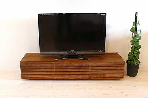 風雅テレビボードテレビ台W1500ウォルナットスリット