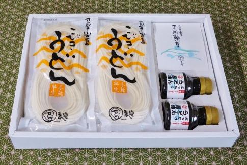 【ご自宅用】手延べ半生こびきうどん6袋入り特製ぶっかけ醤油付
