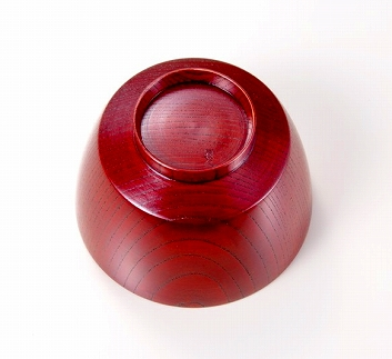 欅3.7胴張汁椀 赤摺SO-0470
