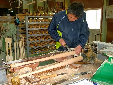 南砺市福光のバット職人が作る オーダーメイド硬式用木製バット