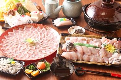 【若男水産】【淡路島3年とらふぐ】雪ふぐ鍋 刺身・白子付/冷凍(5~6人前)