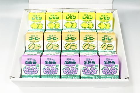 栃木乳業Dセット(関東・栃木レモン&ぶどう&コーヒーギフトセット)