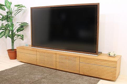 風雅 テレビボード テレビ台 タイプ2 W2700  ブラックチェリー