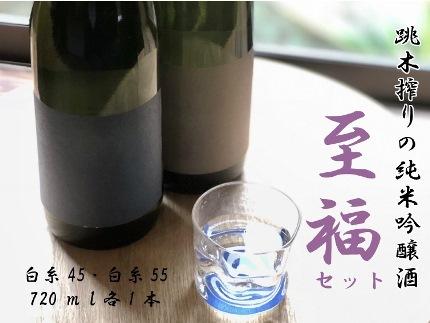 ハネ木搾りの純米吟醸酒セット 至福