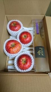 百年木の香りんごジュース・旬のりんご4個セット