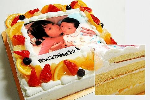 【ギフト用】MR03-18GFTサプライズに最適!写真ケーキ5~8人用Mサイズ(生クリーム・生チョコ)