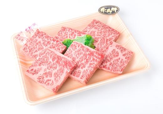 (まるごと糸島)A4ランク糸島黒毛和牛ハネシタロース肉ステーキ6枚入り