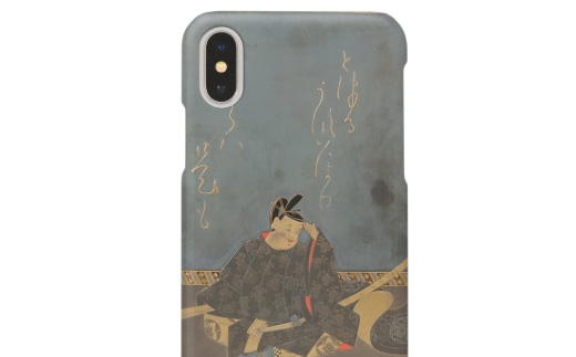 漆藝iPhoneケース 「竜田川蒔絵硯箱(藤原家隆)」モチーフ