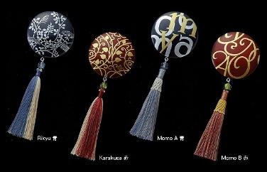 アクセサリータッセルkarakusa赤【房結び漆蒔絵の匠技のブローチ・ペンダント】