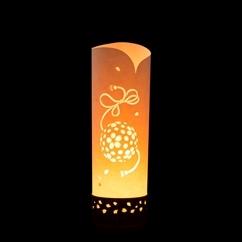 提灯照明秀光桜てまり【八女提灯の技術を活かし切り絵による手彫り創作照明】