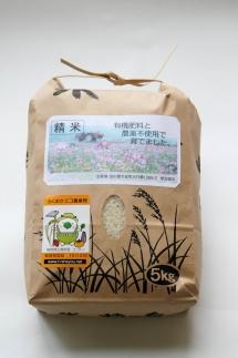 ≪新米受付開始≫有機肥料と農薬不使用で育てた帆足さん家のヒノヒカリ(5kg)